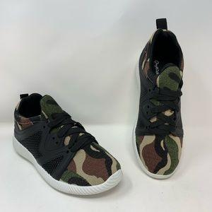 Qupid Khaki Camo Nacara Sneakers, Size 7